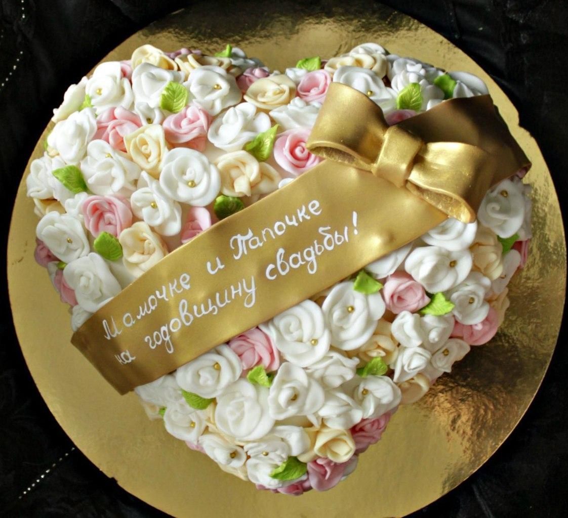 Дизайн тортов на годовщину свадьбы